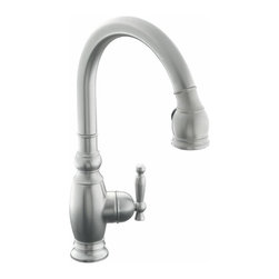 KOHLER - KOHLER K-690-VS Vinnata Single-Control Pull-Down Kitchen Sink Faucet - KOHLER K-690-VS Vinnata Single-Control Pull-Down Kitchen Sink Faucet in Stainless Steel
