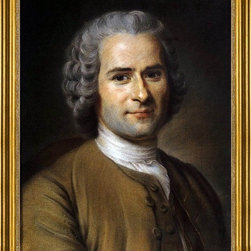 "Maurice Quentin De La Tour-16""x20"" Framed Canvas - 16"" x 20"" Maurice Quentin De La Tour Portrait of Jean-Jacques Rousseau framed premium canvas print reproduced to meet museum quality standards. Our museum quality canvas prints are produced using high-precision print technology for a more accurate reproduction printed on high quality canvas with fade-resistant, archival inks. Our progressive business model allows us to offer works of art to you at the best wholesale pricing, significantly less than art gallery prices, affordable to all. This artwork is hand stretched onto wooden stretcher bars, then mounted into our 3"" wide gold finish frame with black panel by one of our expert framers. Our framed canvas print comes with hardware, ready to hang on your wall.  We present a comprehensive collection of exceptional canvas art reproductions by Maurice Quentin De La Tour."