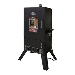 None - Smoke Hollow 44'' Vertical 2-door Gas Smoker - Make tasty jerky and succulent ribs with one of these propane Smoke Hollow smokers. Upper and lower doors provide easy access to food and the smoker cooking system,and the sausage hanger lets you cook juicy Italian sausages and brats with ease.