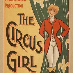 Custom Photo Factory - The Circus Girl, Charles Frohman's Production - Vintage Circus Poster Canvas Wal - The Circus Girl, Charles Frohman's Production - Vintage Circus Poster  Size: 20 Inches x 30 Inches . Ready to Hang on 1.5 Inch Thick Wooden Frame. 30 Day Money Back Guarantee. Made in America-Los Angeles, CA. High Quality, Archival Museum Grade Canvas. Will last 150 Plus Years Without Fading. High quality canvas art print using archival inks and museum grade canvas. Archival quality canvas print will last over 150 years without fading. Canvas reproduction comes in different sizes. Gallery-wrapped style: the entire print is wrapped around 1.5 inch thick wooden frame. We use the highest quality pine wood available. By purchasing this canvas art photo, you agree it's for personal use only and it's not for republication, re-transmission, reproduction or other use.