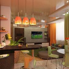 Contemporary Living Room by Altotskiy Mikhail