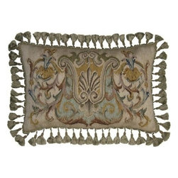 """EuroLux Home - New 16""""x24"""" Throw Pillow Scroll Gray - Product Details"""