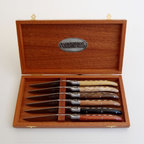 Fontenille Pataud Laguiole Steak Knives, Set of 6 - Laguiole has long been known for their stellar knives, and this set is no exception. Available in four different types of wood, it would make a stunning gift for one very lucky host or hostess.