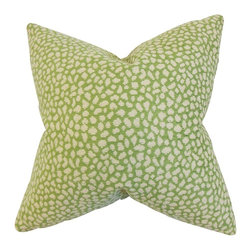 """The Pillow Collection - Manzu Geometric Pillow Green 20"""" x 20"""" - Transform your living space with this bright accent pillow. Covered with a unique geometric pattern in shades if yellow and green, this decor piece makes a great statement piece. Combine this 20"""" pillow with solids and other patterns for a completely unique decor style. Made in the USA."""
