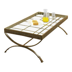 Steve Silver - Emerson 3 Pack - Gold - The Emerson 3-Pack Occasional Set (Gold) is a transitionally-styled collection with metal frames and glass tops. The metal legs on this Emerson 3-Pack collection features a gold finish, versatile enough to work with any homes decor.