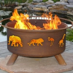 Safari Outdoor Fire PIt - Spending time outdoors will never be so lively as it is with the Safari Outdoor Fire Pit to light up your night. -Mantels Direct