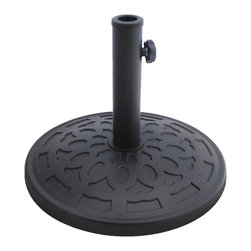 Bond - Bond 63137 Regency Resin Umbrella Base Matte Black - The Regency Resin Umbrella Base combines a timeless design with the versatility of environmentally friendly materials. The umbrella base is 100% rust proof so you'll never need to worry about it staining your deck or patio.