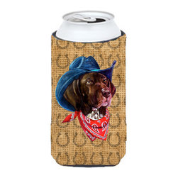 Caroline's Treasures - German Shorthaired Pointer Dog Country Lucky Horseshoe Tall Boy Koozie Hugger - German Shorthaired Pointer Dog Country Lucky Horseshoe Tall Boy Koozie Hugger Fits 22 oz. to 24 oz. cans or pint bottles. Great collapsible koozie for Energy Drinks or large Iced Tea beverages. Great to keep track of your beverage and add a bit of flair to a gathering. Match with one of the insulated coolers or coasters for a nice gift pack. Wash the hugger in your dishwasher or clothes washer. Design will not come off.