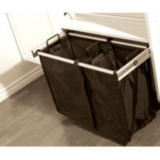 30 Inch Pull-Out Double Laundry Hamper in Custom Closet Accessories