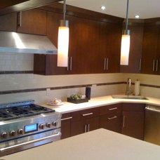 Modern Kitchen Cabinetry by Angelo Vallianatos, Sales/Designs of Kitchen Craft