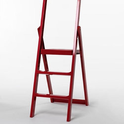 Design House Stockholm Step Ladder - Changing a light bulb, reaching for that book, no home is complete with out a stepladder. Just fold the ladder and hang it on the wall when not in use as a graphic addition.