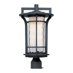 Maxim Lighting - Maxim Lighting 85780WGBO Oakville EE 1-Light Outdoor Pole/Post Lantern - Maxim Lighting 85780WGBO Oakville EE 1-Light Outdoor Pole/Post Lantern