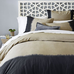 Dip-Dye Linen Cotton Blend Duvet Cover