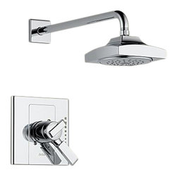Delta - Delta T17286 Arzo Monitor 17 Series Shower Trim (Chrome) - Delta T17286 Arzo Collection has a bold angular shape and for a comtemporary addition to your home. The Delta T17286 is a Monitor Shower Only Trim in Chrome.