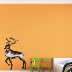 Christmas Reindeer Vinyl Wall Decal ChristmasReindeerUScolor003; 12 in. - Vinyl Wall Decals are an awesome way to bring a room to life!