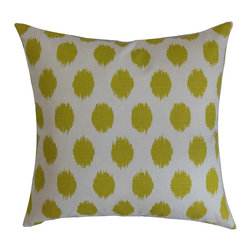 "The Pillow Collection - Kaintiba Ikat Pillow Green 18"" x 18"" - Make way for the new season by changing your decor pieces. Reinvent your decor style into a spring-inspired look by adding this bright-hued ikat throw pillow. This accent pillow makes a great statement piece in your living room, bedroom or anywhere inside your home. The lime green and white color combination is bold and vibrant. Crafted from 100% plush and soft cotton material. Hidden zipper closure for easy cover removal.  Knife edge finish on all four sides.  Reversible pillow with the same fabric on the back side.  Spot cleaning suggested."