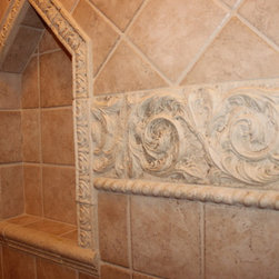 Old World Main Bathroom, Medina #1 - In this bathroom renovation Sonoma Reserve Tile Collection was used.