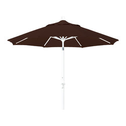 California Umbrella - 9 Foot Sunbrella Aluminum Crank Lift Collar Tilt Market Umbrella, White Pole - California Umbrella, Inc. has been producing high quality patio umbrellas and frames for over 50-years. The California Umbrella trademark is immediately recognized for its standard in engineering and innovation among all brands in the United States. As a leader in the industry, they strive to provide you with products and service that will satisfy even the most demanding consumers.