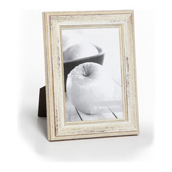 Roma Moulding - Provence Distressed White Wood Picture Frame, 5x7 - Inspired by the sun-drenched colors and weathered surfaces of southern France, our Provence collection embodies the craftsmanship, charm and warmth of this beautiful region.