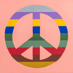 Brooklyn Canvas - Peace Is The New Black: A Painting Handcrafted in Brooklyn - Peace Is The New Black
