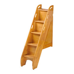 Night And Day Furniture - Bunk Storage Stairs (For Use With Cinnamon Twin/Twin & Full/Full Only)Medium Oak - This optional upgrade to our Cinnamon twin/twin or Ginger full/full bunk beds adds storage, safety and style.
