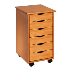 Adeptus - Adeptus 6 Drawer Roll Cart - Deep drawers holds ream of paper or drill, Perfect for project rooms, kitchens, garage, office or end table, On wheels, Cart 1