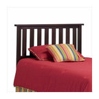 Fashion Bed - Fashion Bed Belmont Wood Headboard in Merlot-Twin - Fashion Bed - Headboards - 51T523 - Reminiscent of the Arts and Crafts or Mission styling, the Belmont Headboard has a comfortable ambiance that is perfect for any decor. An ideal way to update a child's room, a second bedroom or your own room, it features open slats and decorative molding, along with a choice of wood-grain or painted finishes.