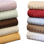 "Bed Linens - Egyptian Cotton 650 Thread Count Stripe Pillowcase Sets King Burgundy - Add an elegant touch to any bedroom d�cor with this 100% Egyptian Cotton 650 thread count soft and durable pillowcase set.  These 650 thread count pillowcases of premium long-staple cotton are ""sateen"" because they are woven to display a lustrous sheen that resembles satin."