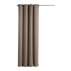 Evideco - Blackout Window Curtain Panels Square Grommets Cocoon Beige - This contemporary blackout window curtain panel COCOON with square grommets provides an excellent blend of fashion and blackout technology, helps to block light, reduce noise, save on energy costs and stay out of sight while adding an elegant and decorati