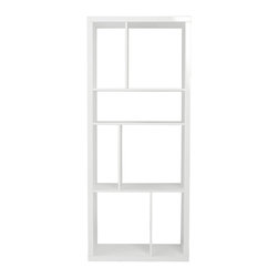 Eurostyle - Reid Shelving Unit/Media Stand-White - High gloss lacquer on MDF