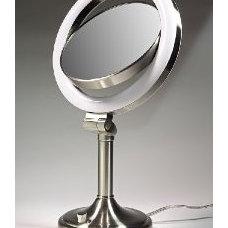 Zadro SLV410 Dimmable Sunlight Lighted Vanity 1x-10x - Satin Nickel