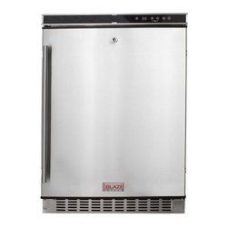"Blaze Outdoor - Blaze Outdoor Rated Stainless 24"" Refrigerator 5.5 CU - Spacious 5.5 interior allows for storage convenience"