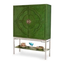 Lotus Bar Cabinet, Jade