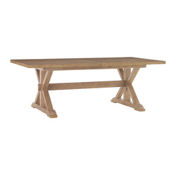 Lexington - Lexington Monterey Sands Walnut Creek Dining Table 830-877 - Relaxed neutral backgrounds, a blending of natural materials and light wood tones serve to create an environment that is pleasing to the eye, and the soul.