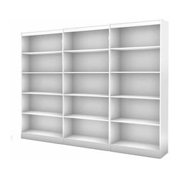 South Shore - South Shore Axess 5 Shelf Wall Bookcase in Pure White - South Shore - Bookcases - 7250768CPKG - South Shore 5 Shelf Bookcase in Pure White