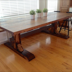 Camron Trestle Table - Chuck Mercier