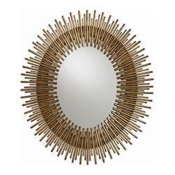 Arteriors - Arteriors 2143 Prescott Small Antiqued Gold Leaf Mirror - Arteriors 2143 Prescott Small Antiqued Gold Leaf Mirror
