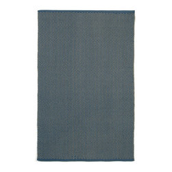 """Trans-Ocean - Pebbles Denim 8'3"""" x 11'6"""" Indoor/Outdoor Flatweave Rug - A textural surfact combined with the reversible nature of this rug enhances the value and style of this minimalist rug. This collection is hand woven of 100% polypropylene, and UV stablilized for Indoor or Outdoor use. Thick specialized weaviing of high quality synthetic yarn is used to create this durable reversible collection."""