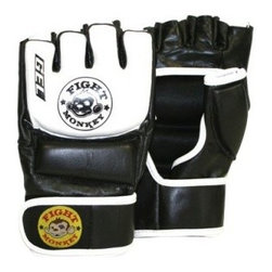 Fight Monkey Leather MMA/Bag Gloves - The Fight Monkey Leather MMA/Bag Gloves make a great accessories in the gym or in the ring. This pair of leather sparring gloves have an open-finger design that lets your hands breathe. A thick 0.5inches of padding protects the knuckles, fingers, and hand, making sure your mitts can deliver power without feeling too much shock. The gloves secure to your hands with convenient Velcro wrist-straps.About United Fitness Group Inc.Committed to excellence in all areas, United Fitness Group incorporates a number of name brands to provide its customers with the finest in training and fitness equipment. Whether you're looking to outfit a professional gym, school sporting equipment, or simply expand your home gym, United Fitness has you covered. Frequency Fitness, TKO Boxing, and Jasmine Fitness are just a few of the fine brands offered. From Pilates accessories to boxing equipment to weight training and more, United Fitness is here to exceed your expectations.