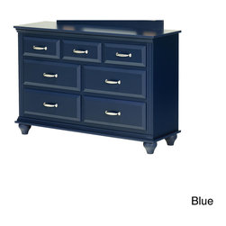 Lang Furniture - Dresser with 7 Drawers - This seven-drawer dresser is tough enough for the roughest kids and versatile enough to grow with them. With a constructed raised drawer fronts,this dresser is enhanced by sturdy silvertone pulls to enhance the look.
