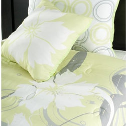 Rizzy Home - Rizzy Home Flowers Kids Comforter Bed Set Multicolor - BT0874FULL/QUEEN - Shop for Bedding Sets from Hayneedle.com! Grow a garden of style in your favorite girl's room with the Rizzy Home Flowers Kids Comforter Bed Set. The striking modern floral pattern features soft hues of gray yellow and white making it a set that will grow along with her without looking too young. An included accent pillow and decorative shams make for a cohesive look while the machine-washable design ensures easy care. Available in your choice of sizes.Comforter Dimensions:Twin: 92L x 68W in.Full/Queen: 92L x 96W in.About Rizzy HomeRizwan Ansari and his brother Shamsu come from a family of rug artisans in India. Their design color and production skills have been passed from generation to generation. Known for meticulously crafted handmade wool rugs and quality textiles the Ansari family has built a flourishing home-fashion business from state-of-the-art facilities in India. In 2007 they established a rug-and-textiles distribution center in Calhoun Georgia. With more than 100 000 square feet of warehouse space the U.S. facility allows the company to further build on its reputation for excellence artistry and innovation. Their products include a wide selection of handmade and machine-made rugs as well as designer bed linens duvet sets quilts decorative pillows table linens and more. The family business prides itself on outstanding customer service a variety of price points and an array of designs and weaving techniques.