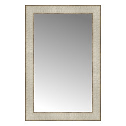 """Posters 2 Prints, LLC - 14"""" x 21"""" Libretto Antique Silver Custom Framed Mirror - 14"""" x 21"""" Custom Framed Mirror made by Posters 2 Prints. Standard glass with unrivaled selection of crafted mirror frames.  Protected with category II safety backing to keep glass fragments together should the mirror be accidentally broken.  Safe arrival guaranteed.  Made in the United States of America"""