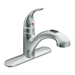 Moen - Moen 67315C Integra Single Handle Pullout Kitchen Faucet in Chrome - An Integra faucet gives your kitchen urban appeal and a modern, eye-catching aesthetic.