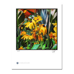 """London Flowers 06, Limited Edition, Photograph - """"London Flowers 06 is the sixth in a series of flower photographs taken on a rainy day in London at Victoria Gardens along the Thames River.   Technical Information:  This is a limited edition photograph produced on Epson Premium Presentation Fine Art Matte Media using an archival pigment. Each photograph is produced, signed and numbered by the artist. Only one hundred or fewer prints are produced in each series. Prints are delivered in a crystal clear presentation sleeve supported with a white backing board.   On 8.5 x 11 media the printed image is 7 x 7 inches, leaving a three quarter inch white border on three sides with a weighted bottom. This white border allows for for easy framing with or without a matte. Perfect for small spaces that need a splash of unique artistry.  Priority shipping is always FREE in the Continental United States!  Please feel free to contact me with any additional questions you may have."""""""