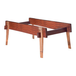 El Dot Designs - Bamboo Grounded Coffee Table, Frame Only - The infamous strength of Bamboo shines through our Grounded Coffee Table. The hand shaped & split Bamboo legs elegantly hold the chunky Rosewood and glass without effort. Assembled with 4 brass hardware, this table makes a bold statement.