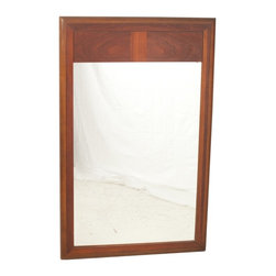 Lane Furniture Company - Consigned Mid Century Danish Modern Lane Two Tone Walnut Wall Mirror - • Mid Century | American Modern
