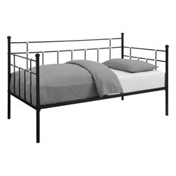 DHP - DHP Hayley Metal Black Daybed - Beautifully crafted with a sturdy frame,this striking twin-size daybed is sure to impress. With modern features such as bold stylish lines and spherical accents,this DHP Hayley metal daybed will complement any living room or bedroom.