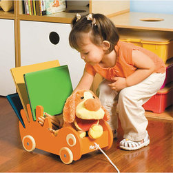 P'Kolino Book Storage Buggee - The P'kolino Book Storage Buggee doubles as a book holder and a pull toy for toddlers and preschoolers.