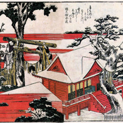 Keep Calm Collection - Red Houses by Katsushika Hokusai, art print - Katsushika Hokusai (September 23, 1760 - May 10, 1849) was a Japanese artist, ukiyo-e painter and printmaker of the Edo period. He was influenced by such painters as Sesshu, and other styles of Chinese painting.