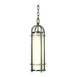 Hudson Valley - Hudson Valley 8531-HN 1 Light PendantPortland Collection - We've adapted the classic coach lamp to create our Portland collection.  Opal glass evenly diffuses glowing white light from within the lamps' clean-lined, cylindrical cages.  Hook-and-eye hangers provide the authentic details that make our fixtures stand